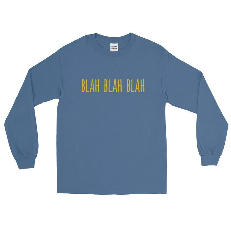 Blah Blah Blah Urban Dictionary Long Sleeve T-Shirt (unisex)