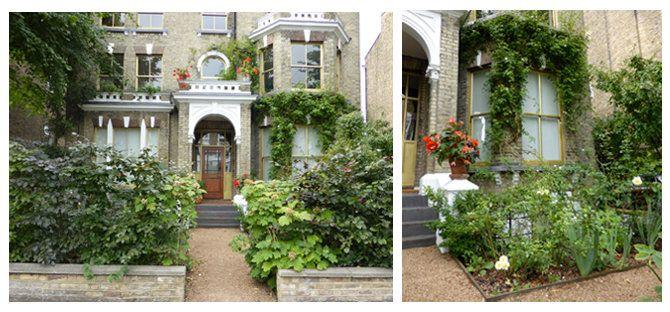 Charles Rutherfoord's Clapham Garden. Front garden.