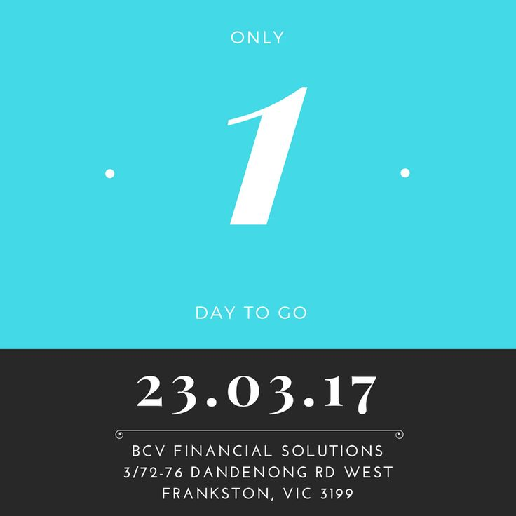 One Day To Go! http://bit.ly/2mqgd5n