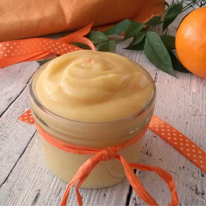 Crema all'arancia senza uova,ideale per farciture