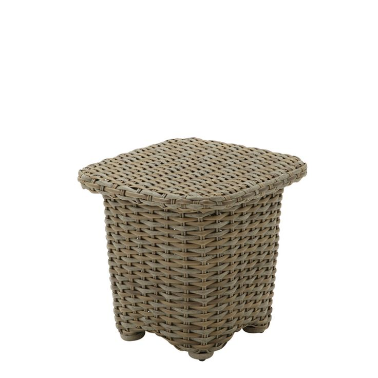 Sunset Square Side Table (Woven Top)