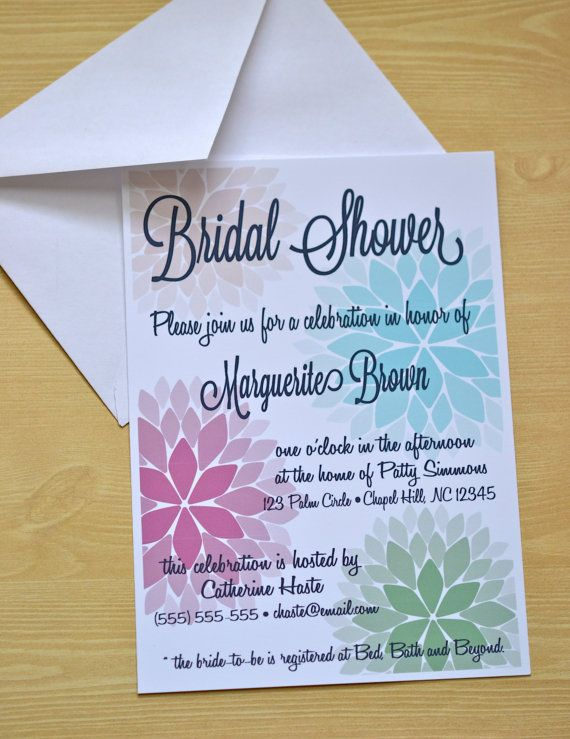 Spring Floral Themed Bridal Shower invitation. Just $1.75 each on Etsy!
