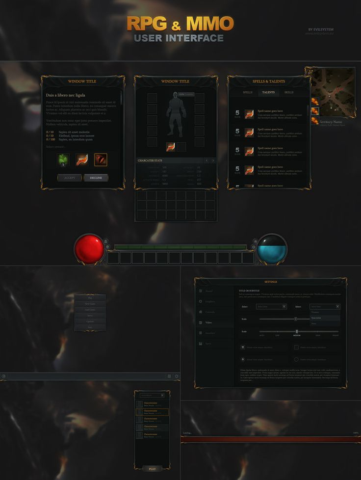 RPG and MMO UI - http://evilsystem.eu/assetstore/asset/RPG__MMO_UI/
