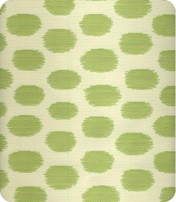 Kasumi-O green dot fabric