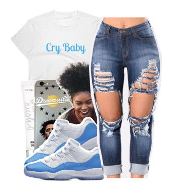 """""""""""Legend Blue"""" 11s """" by prinxcess-adrii ❤ liked on Polyvore featuring Beauty Rush"""