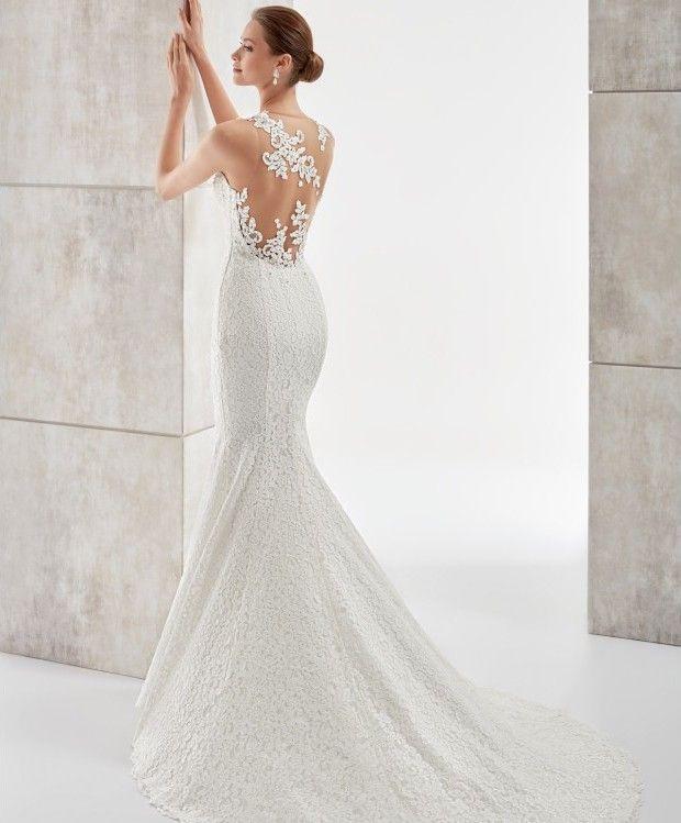 Romántico y sexi vestido de novia corte sirena, con espectacular ...