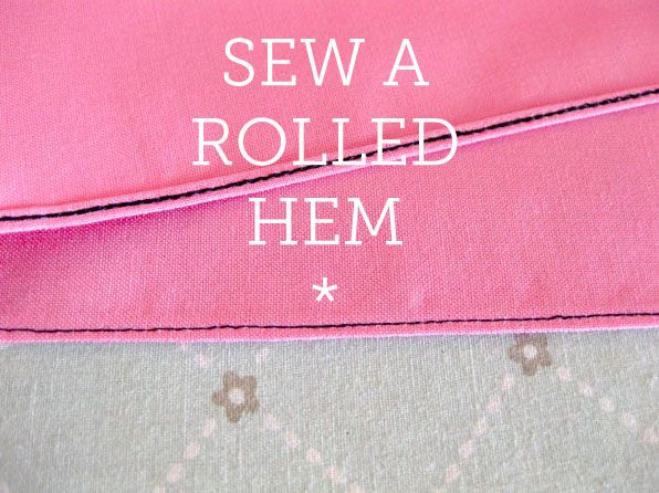 how to sew a rolled hem #sewing #tutorial