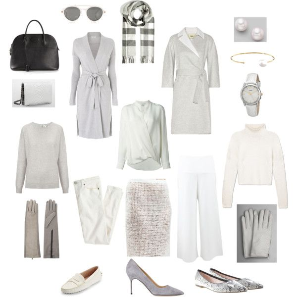 Cozy Grey-White Capsule Wardrobe by glendapearl on Polyvore featuring ファッション, L.K.Bennett, Derek Lam, 3.1 Phillip Lim, Fendi, STELLA McCARTNEY, J.Crew, Calvin Klein, Whistles and Tod's