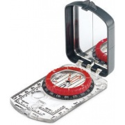Brunton Compass.  Think you don't need to own and know hoe to use a compass because you use a GPS?  You would be confused.  Buy this model so you can stay on bearing.  With the sight on top you look forward to where you are going.  The mirror is used to look over your shoulder to see where you came from...to stay on a straight line.