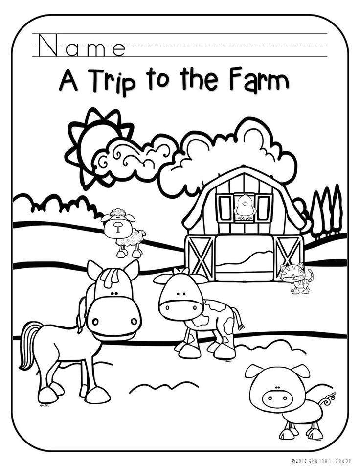 preschool coloring pages farm - photo#21
