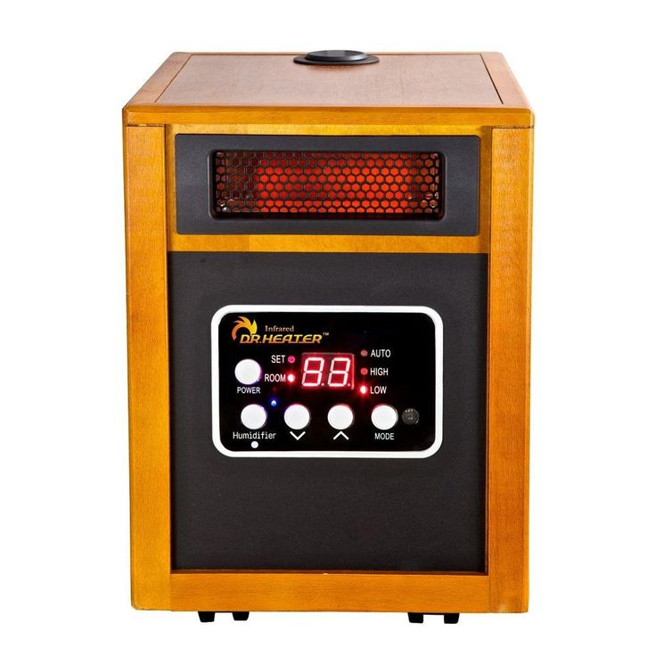 1500 Watt Infrared Portable Space Heater With Humidifier And Dual Heating  System, Red