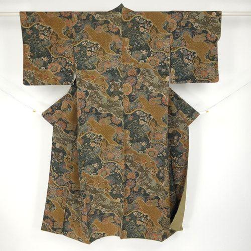 Brown komon kimono / たっぷりとした重量感のある小紋 #Kimono #Japan http://global.rakuten.com/en/store/aiyama/