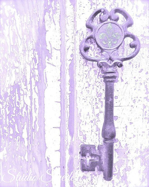 Cottage Shabby Chic arte vecchia stampa chiave di StudioSwede13