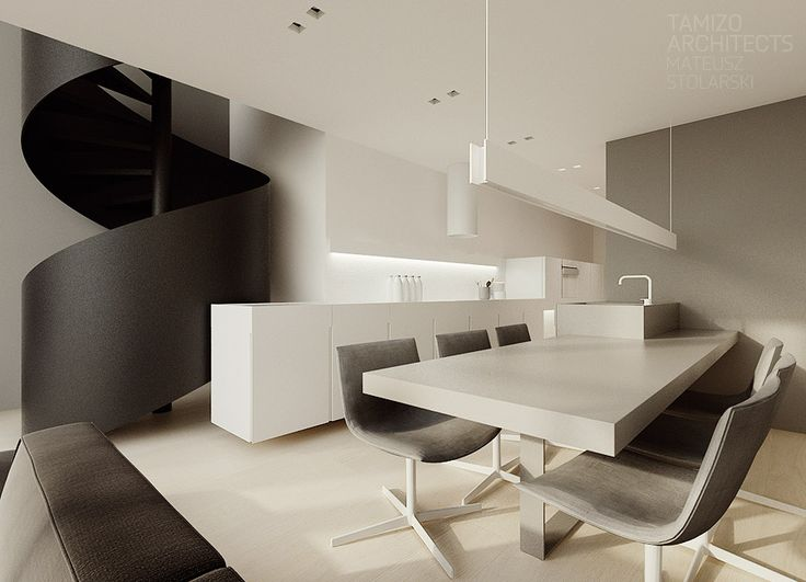 Flat interior design, soft loft @ warsaw by Tamizo Architects