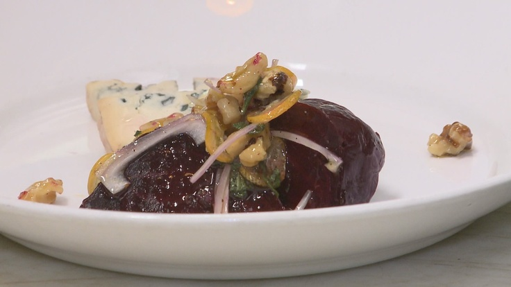 Had fun learning how to make this beet salad with blue cheese from Jen Louis, the chef/owner of Lincoln restaurant in North Portland. So yummy!