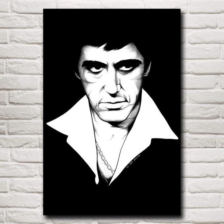 """""""Tony"""" Scarface Movie Canvas Poster"""