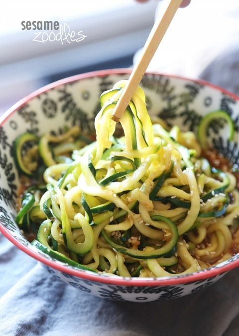 These Sesame Zoodles are SO super easy...can be whipped up in minutes and are low carb! Perfect for lunch or a light dinner!