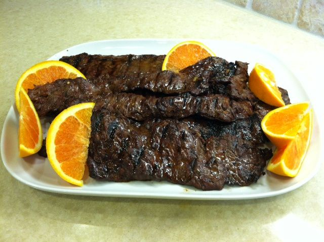 Orange-Ginger Skirt Steak | Food for the Soul | Pinterest