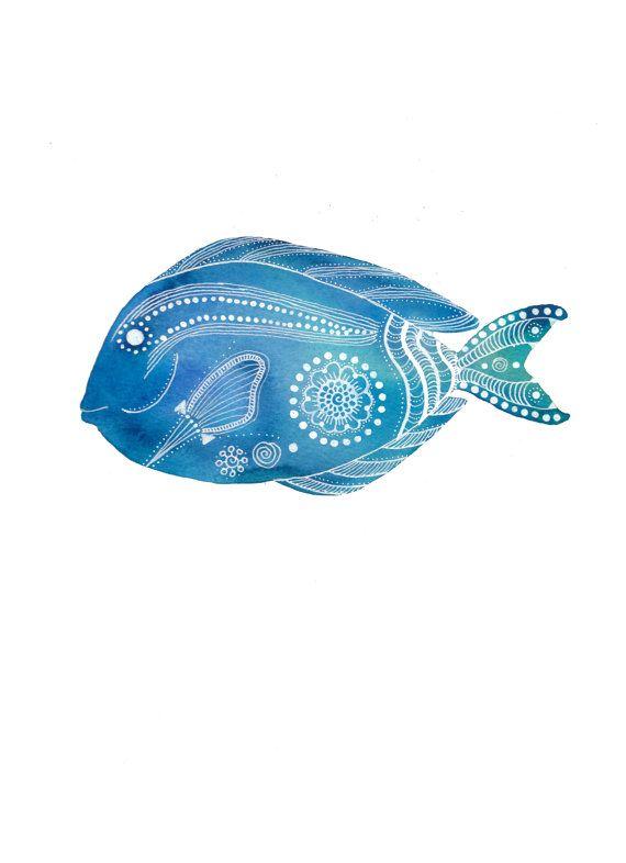 Impresión del arte archivo Tang azul pescado por MagaMerlina