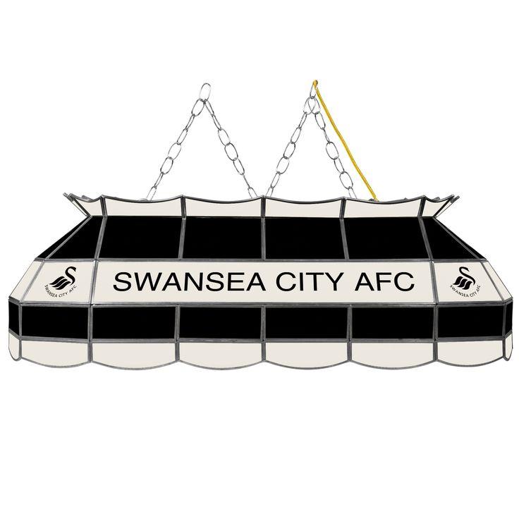 Trademark Premier League Swansea City Handmade Tiffany Style Lamp - 40 Inch