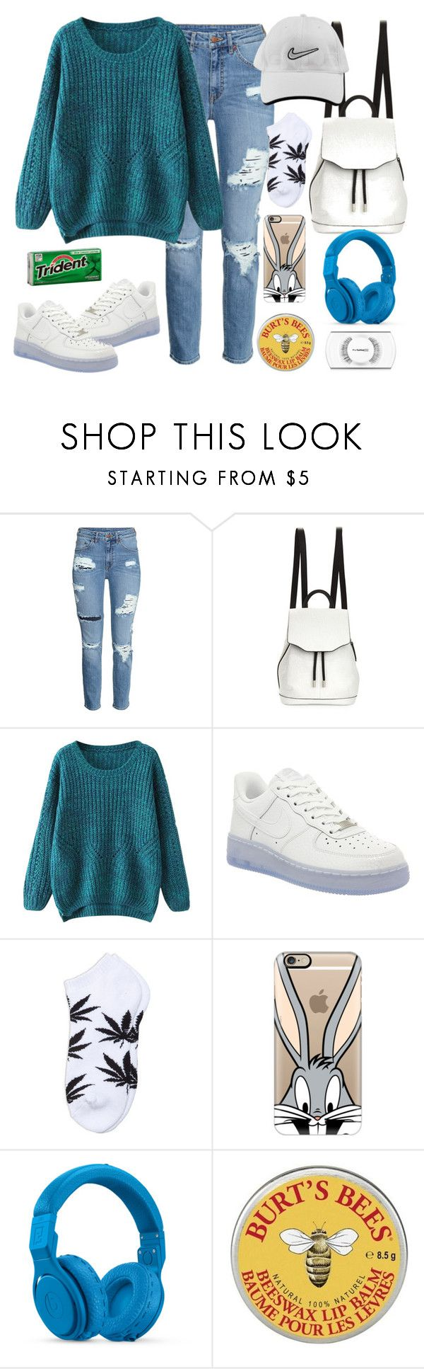 """""""Romantic Ft. Tiwa Savage By Korede Bello #WhatsTodaysJam"""" by cissylion ❤ liked on Polyvore featuring H&M, rag & bone, NIKE, Casetify, Beats by Dr. Dre, Burt's Bees and MAC Cosmetics"""