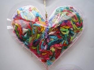Yarn Scrap Ornament... ♥