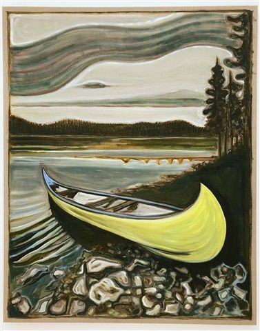 yellow canoe by Billy Childish on artnet