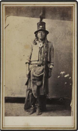Kiowa/Comanche man near Ft. Sill, Oklahoma - circa 1870