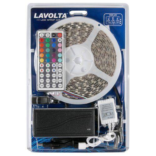 Lavolta KIT-1 RGB 300 LED 16 ft. Tape Lighting Strip 12 V...