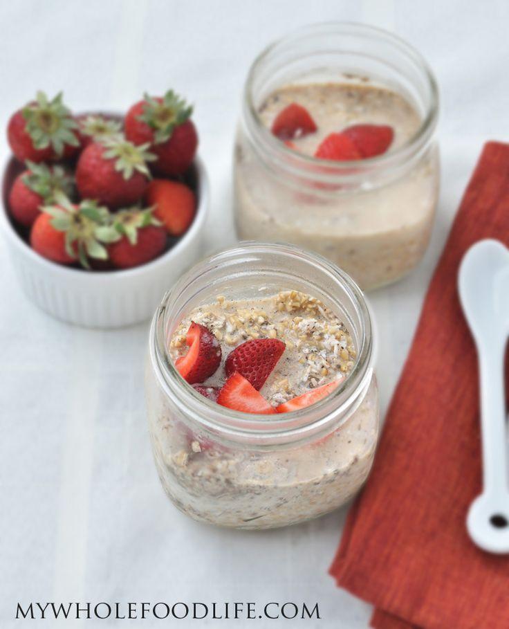 Coconut+Strawberry+Overnight+Oats