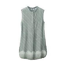 WOMEN Batik Motif Collection Stand Collar Sleeveless Tunic
