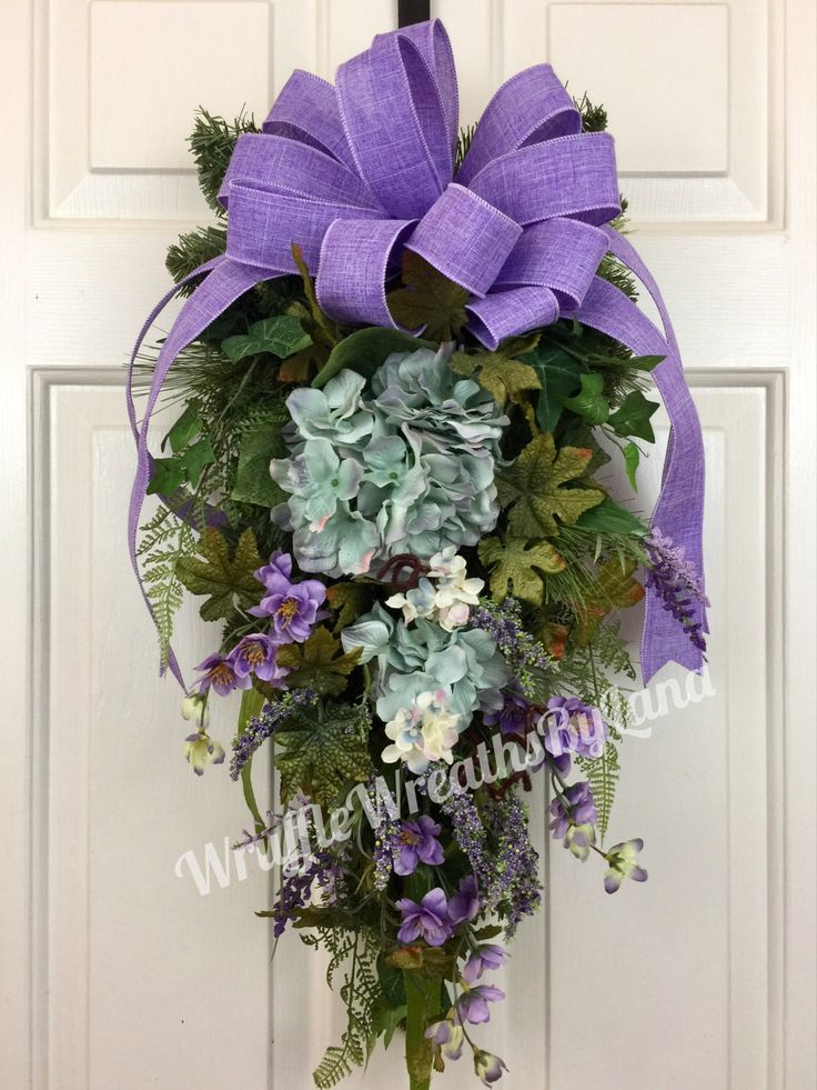 A personal favorite from my Etsy shop https://www.etsy.com/listing/509640063/lavender-hydrangea-swag-spring-hydrangea