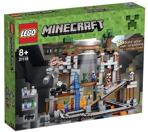 "This was a ""maybe"" LEGO Minecraft 2014 The Mine 21118 Set Box"