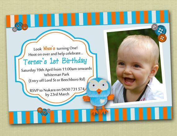 hoot owl photo personalised birthday invitation you print giggle