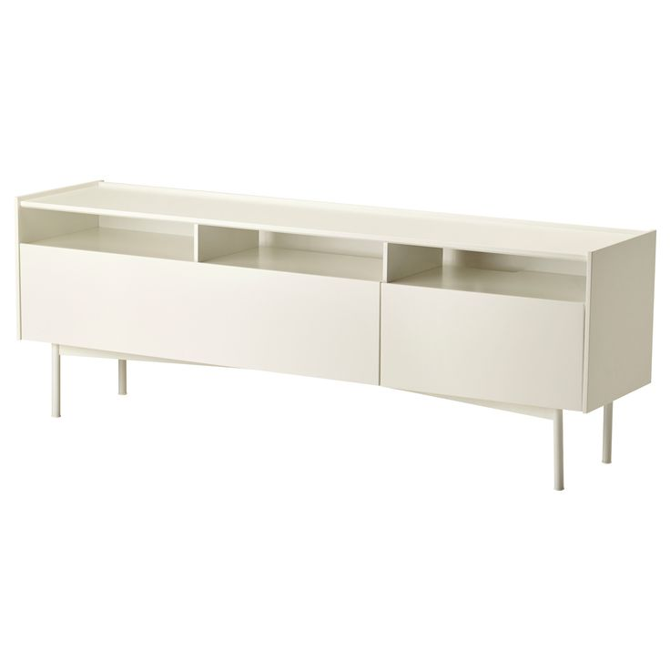 RAMSÄTRA TV unit - IKEA-$239 TV entertainment unit for the wall opposite the stairs.  You could add shelving above also in wood to add some warmth