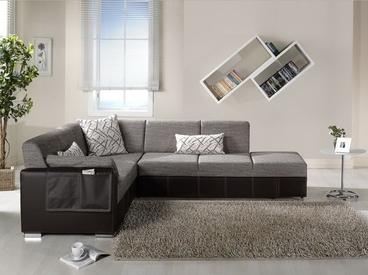 Modern Black And Gray Sectional L Shaped Sofa Design Ideas