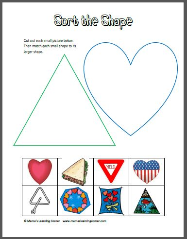 triangle shape worksheets for kindergarten shape worksheets for preschool crafts and printable. Black Bedroom Furniture Sets. Home Design Ideas