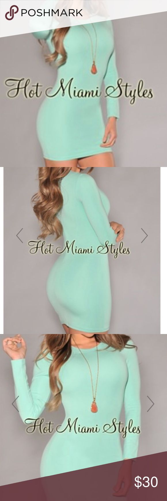 Hot Miami Styles NWOT Bought this on Poshmark. Just a little too tight for me so didn't wear it. NWOT. Great condition and kept in a smoke/pet free home. Similar to Bebe, bcbg, guess, Marciano, etc. hot miami styles Dresses