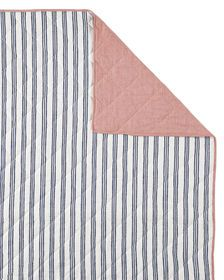 Railroad Stripe Quilt - French Blue/Red