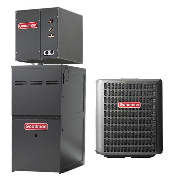 2 Ton Goodman Gsx140241 14 Seer Central Air Conditioner 40 000 Btu 80 Efficiency Gas Furn In 2020 Central Air Conditioners Central Air Conditioning System Central Air