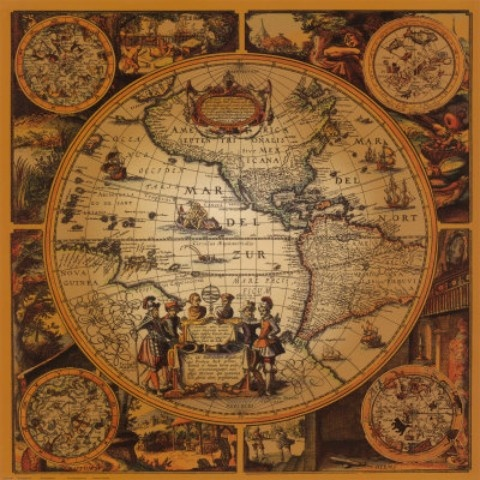 old map of the americas