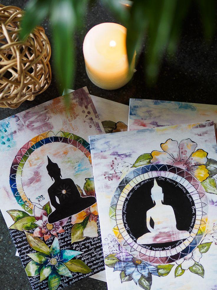 Beautiful Buddha card