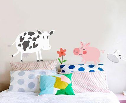 Ζωάκια στην πρώτη γραμμή της διακόσμησης!  Έκπτωση -20% Αυτοκόλλητα τοίχου: http://www.houseart.gr/details.php?id=339&pid=13028  #houseart #animals #kids #kids_bedroom #decoration #sticker