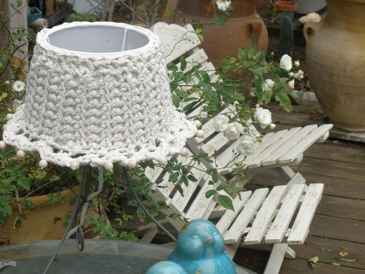 Kniting crochet lampshade
