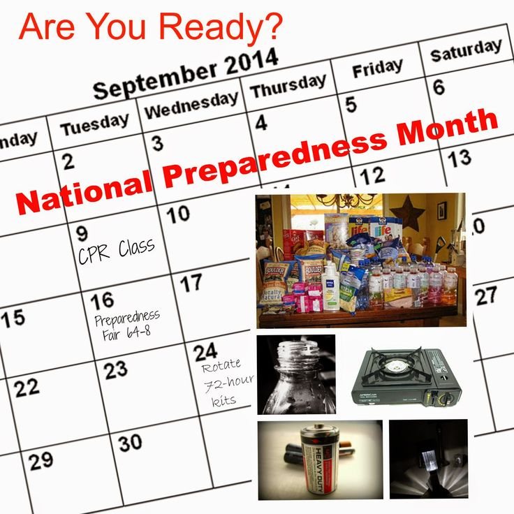 National Preparedness Month...what can you do to prepare your family for an emergency??