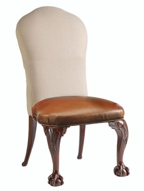 LEATHER SEAT SIDE CHAIR | fermafurniture.gr