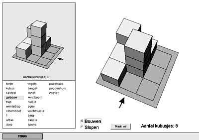 Zelf blokkenbouwsels maken om lln laten na te bouwen in de klas.