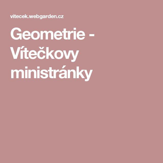 Geometrie - Vítečkovy ministránky