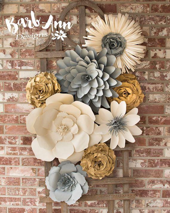 Best 25 paper flower wall ideas on pinterest - Flowers for home decor photos ...