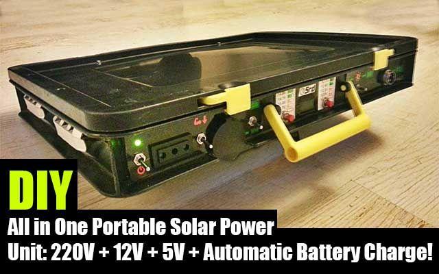 DIY All in One Portable Solar Power Unit - SHTF Preparedness